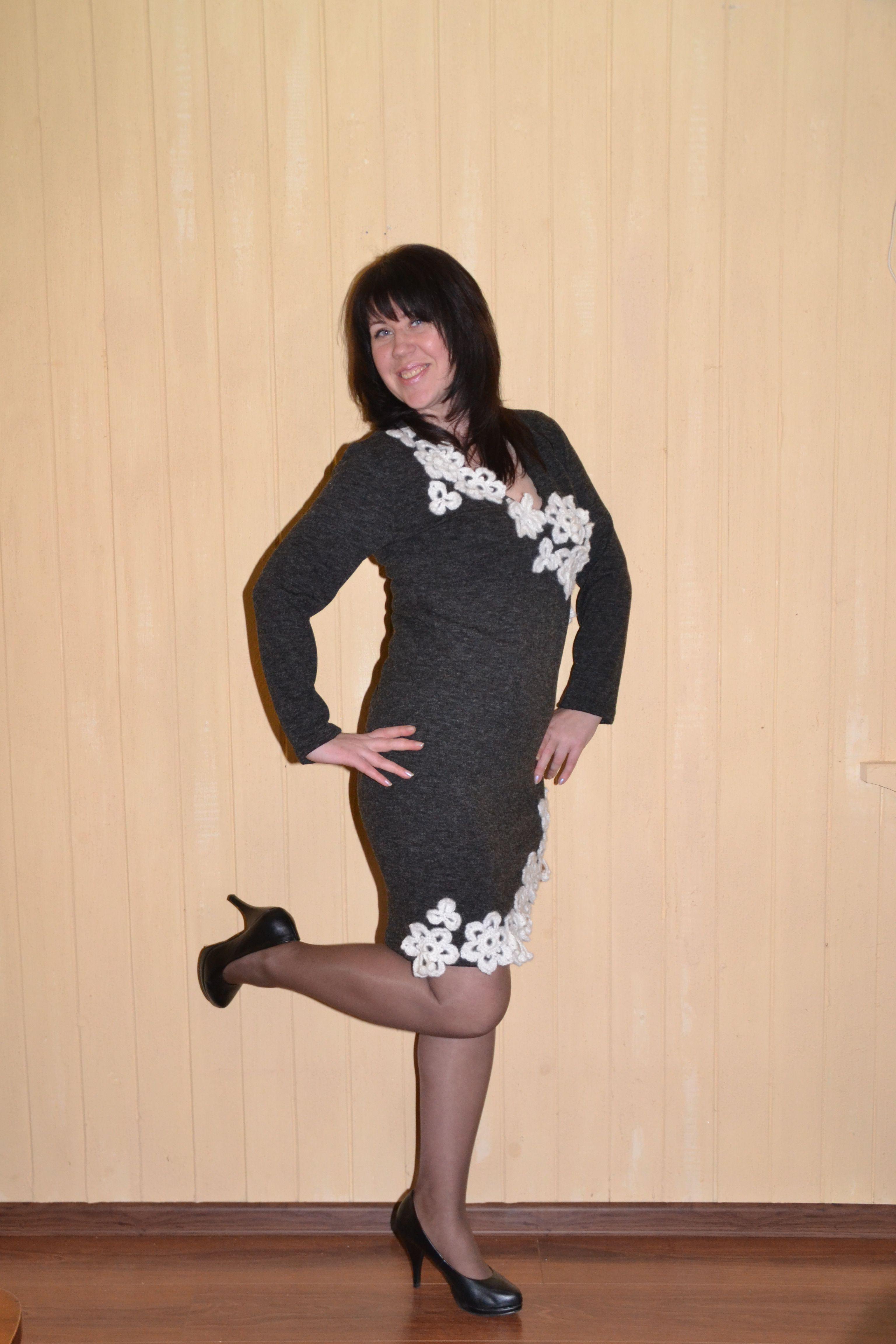 зима платье теплое изящное элегантное ангора