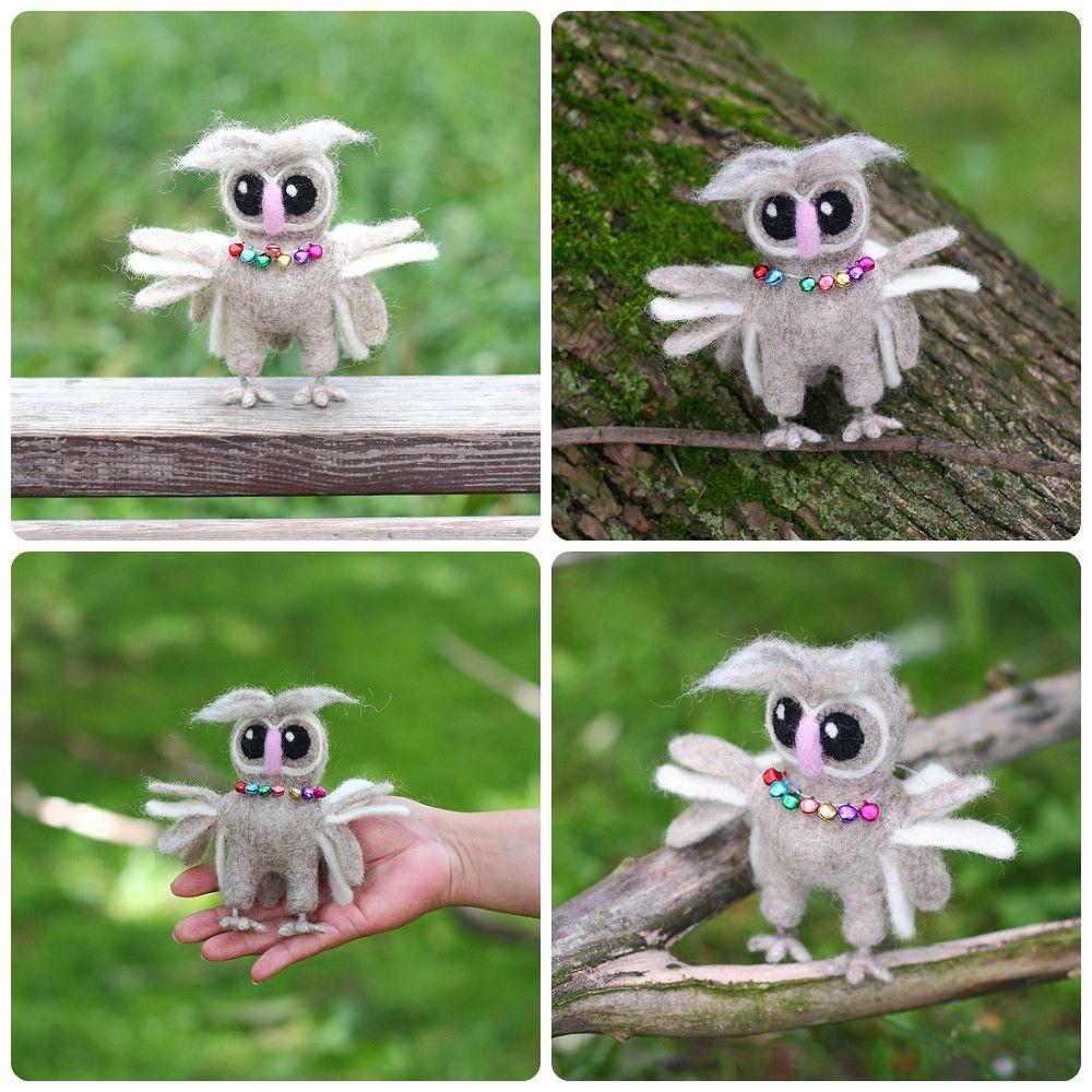 игрушка валяние сова