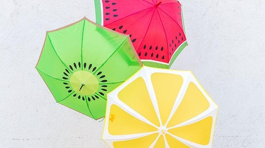 настроение поделка зонтик краска ткань осень