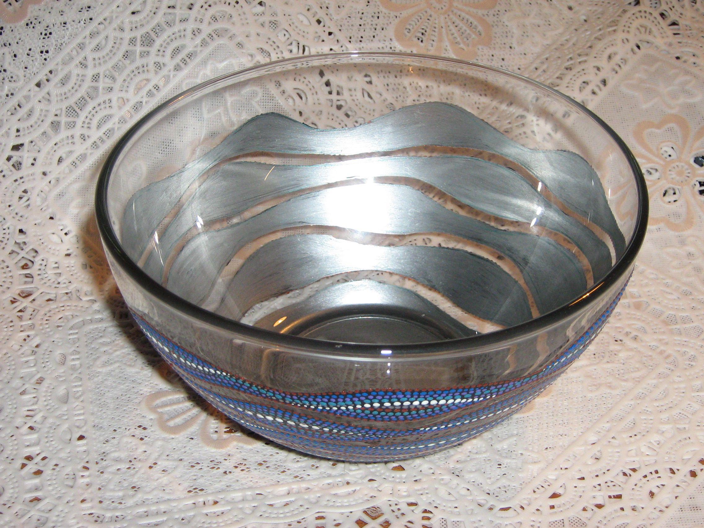 стекло морская роспись ваза посуда