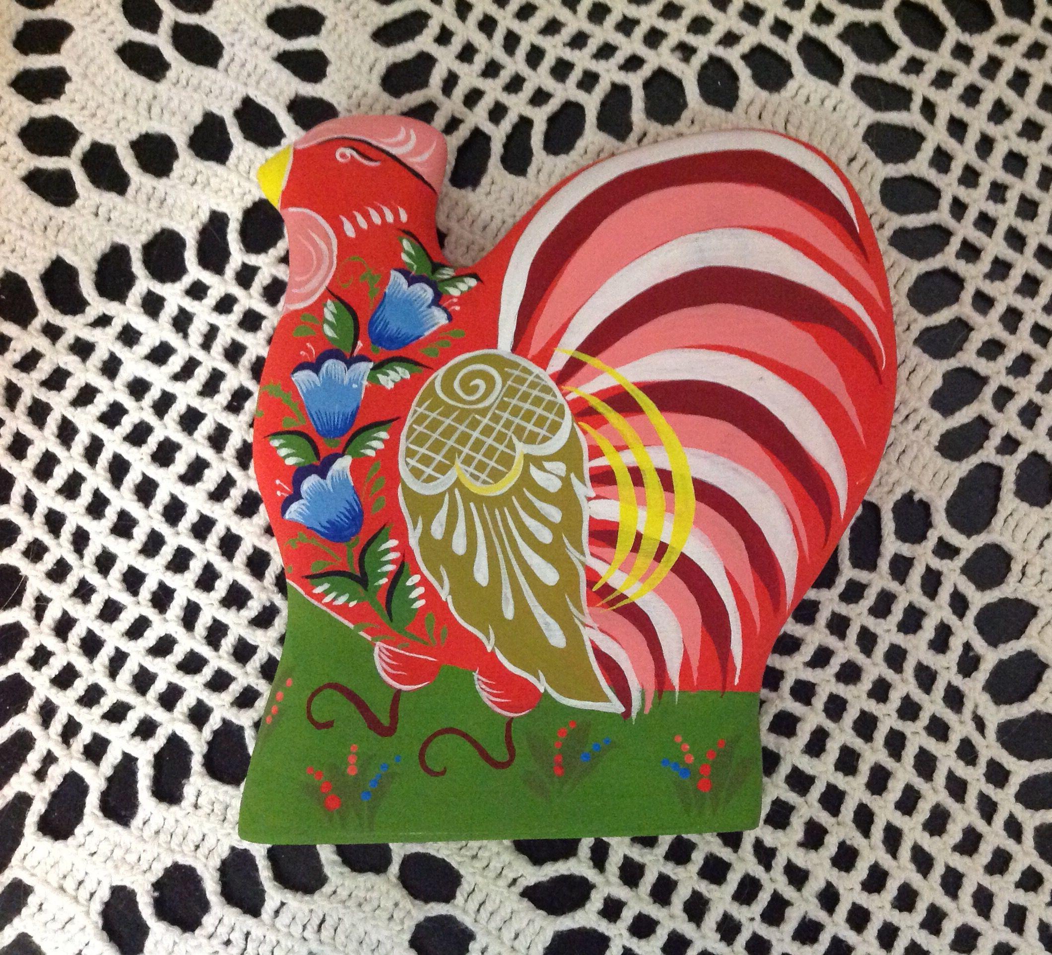 ручнаяработа игрушка городецкаяроспись русский год петушокзолотойгребешок городец петух новыйгод петуха красный сувенир подарок дети
