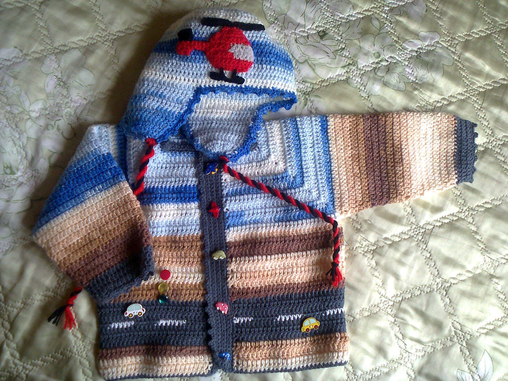 вязание шапка мальчик куртка