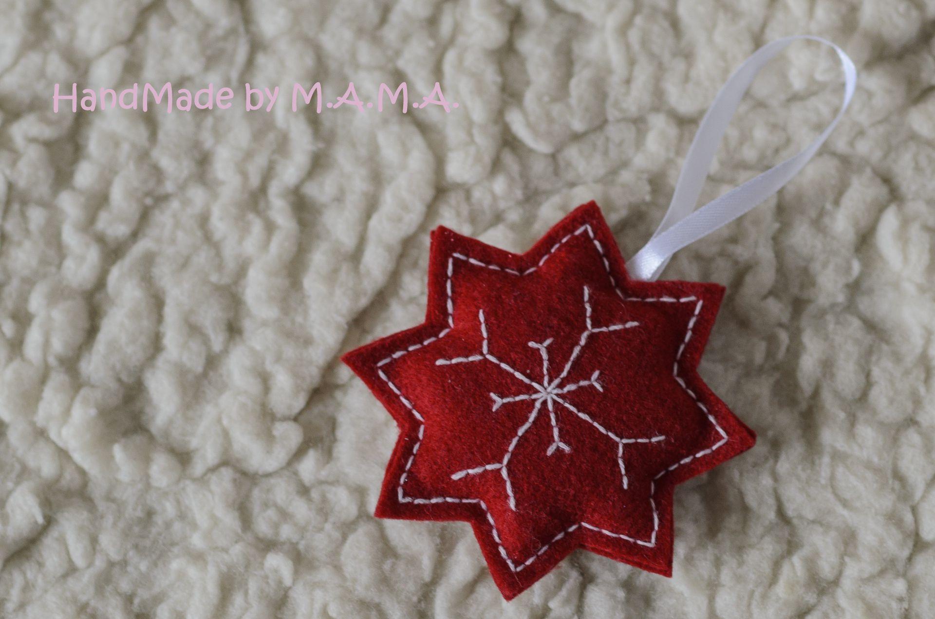 игрушка звезда ёлочная фетр новогоднее
