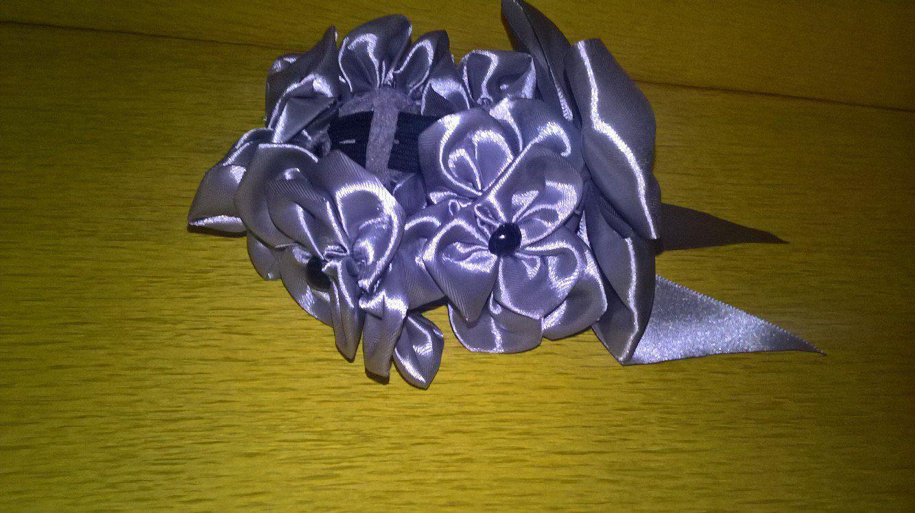 резинка канзаши подарок украшение