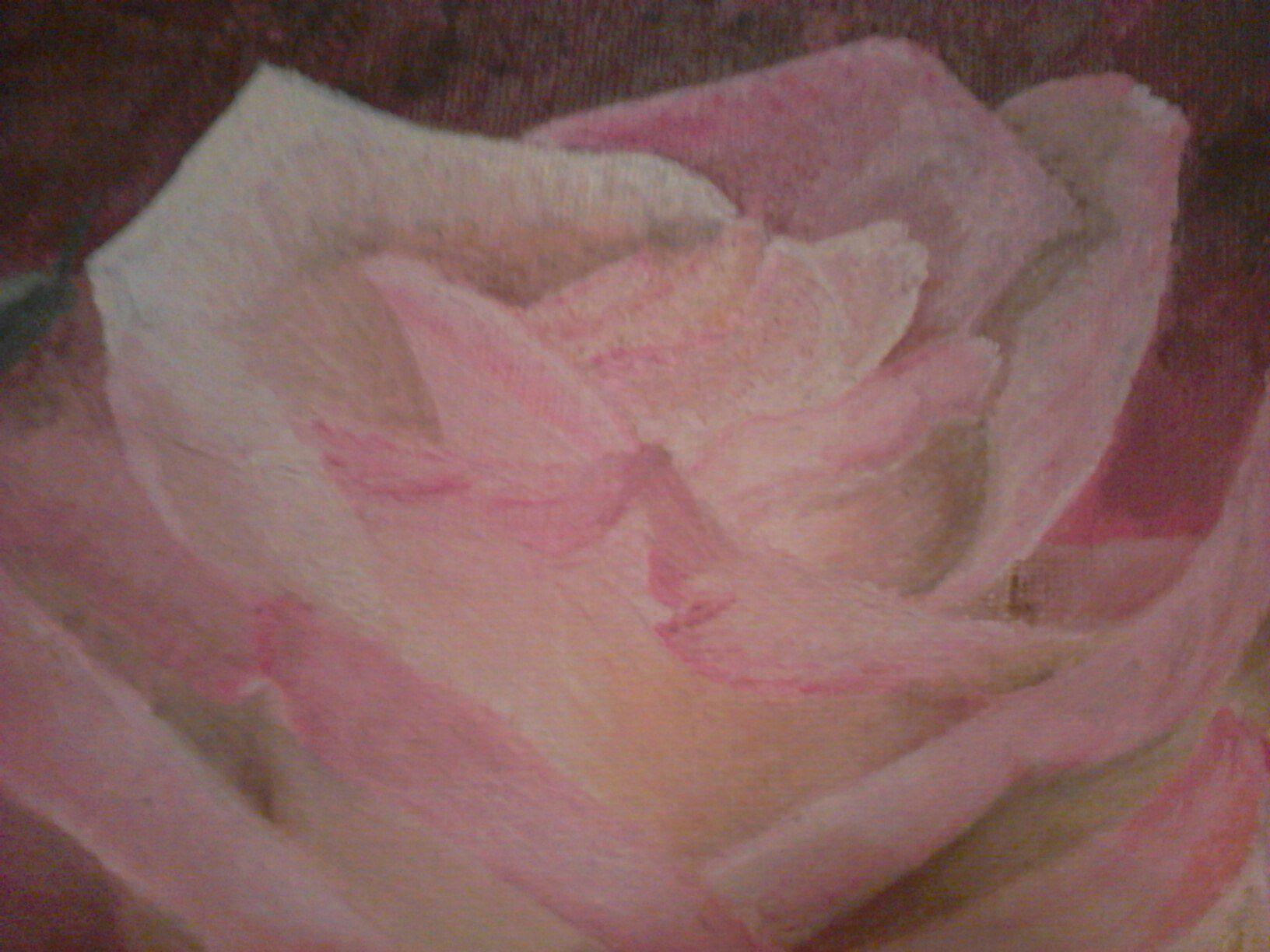 интерьерная холст картина масло цветок живопись роза цветы маслом