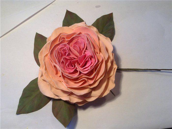 Роза из фоамирана мастер класс 27