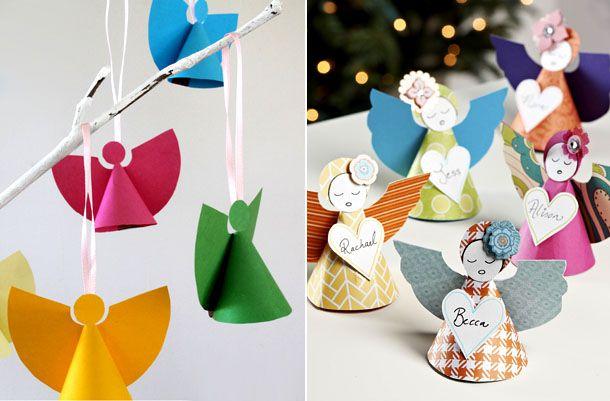 рождество праздничный бумажный декор новыйгод ангел дети