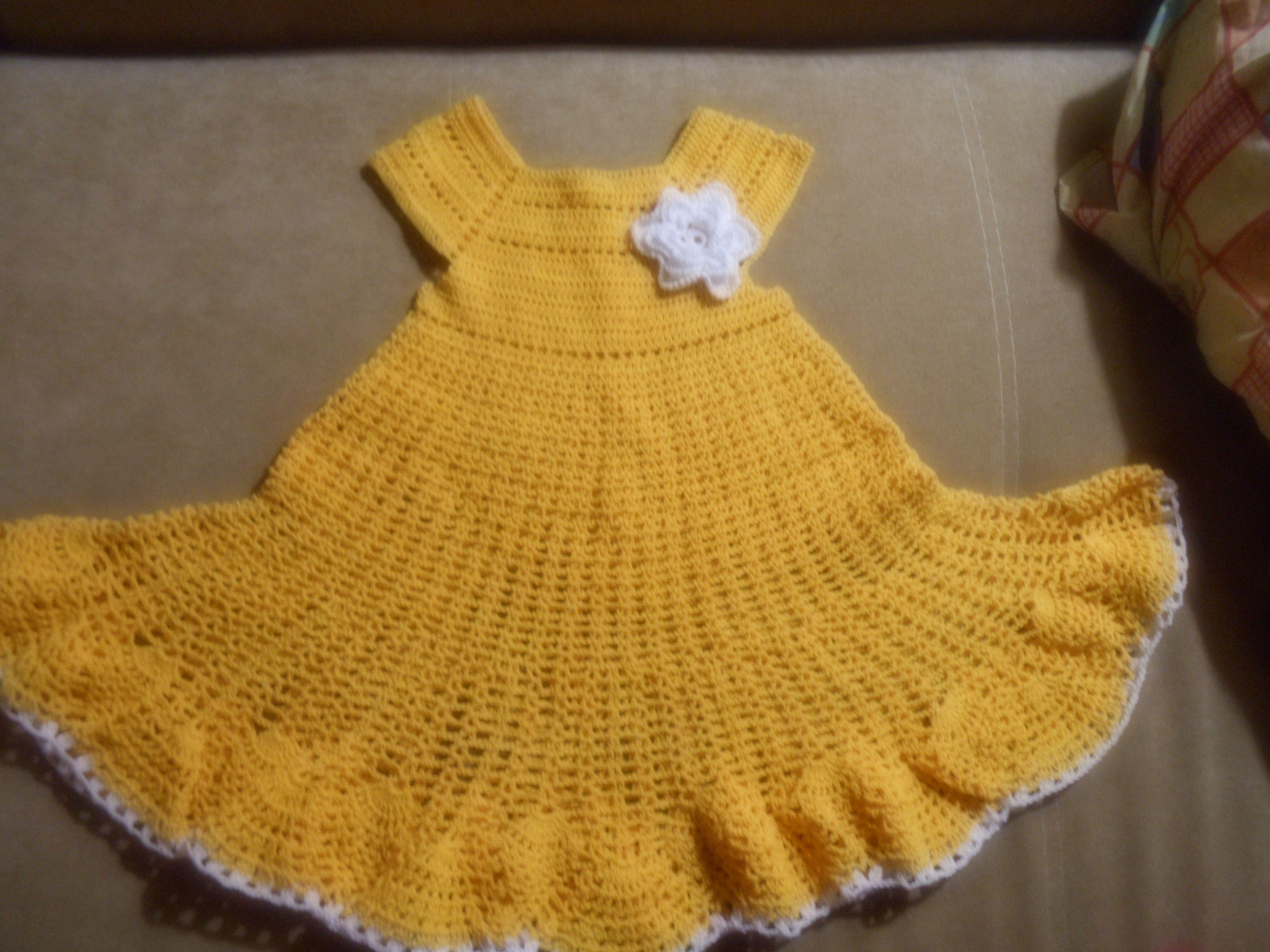 связано вязанное комплект платье шляпка детский крючком вязанная