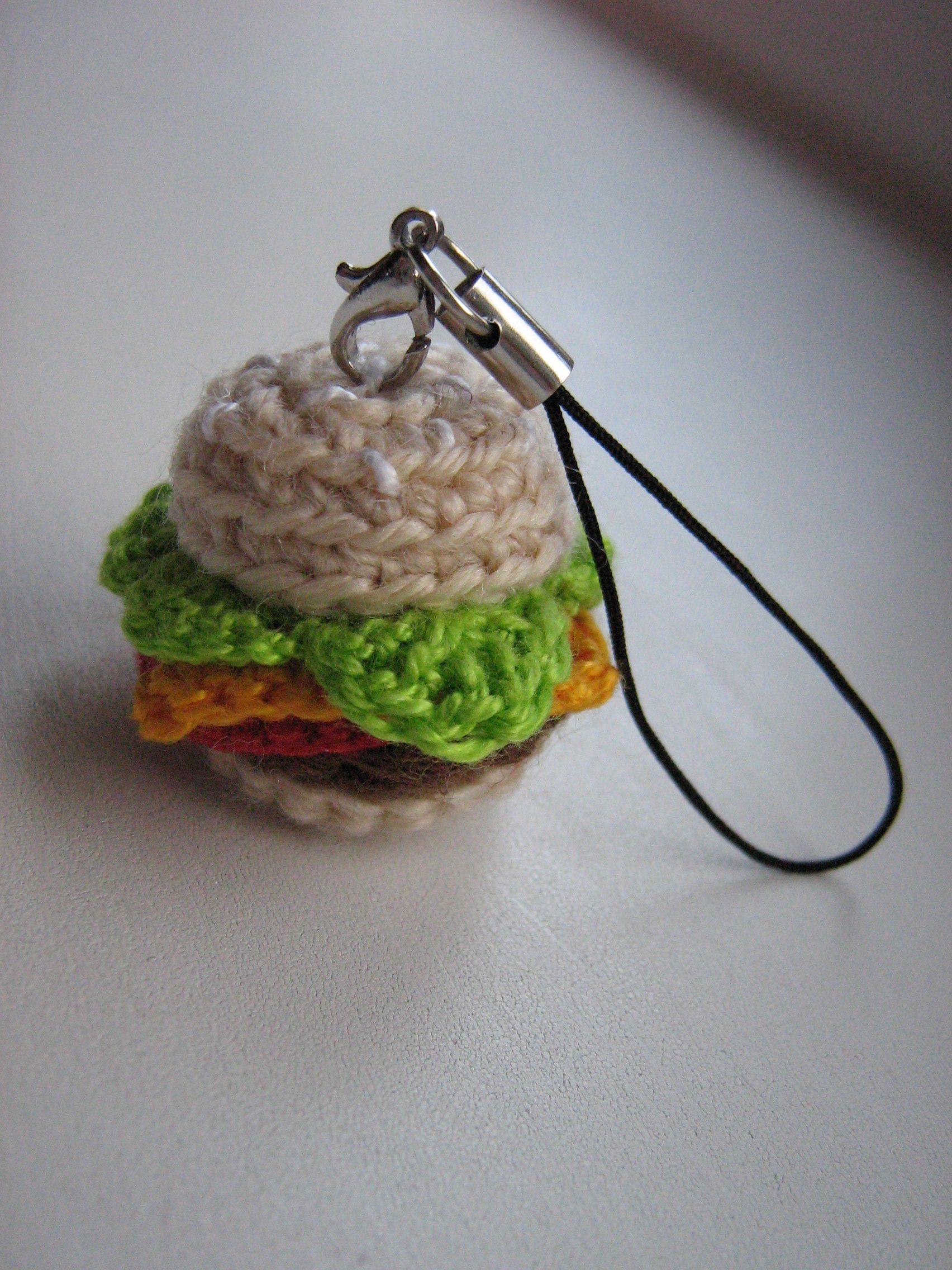 еда вязаный маленький вязание брелок