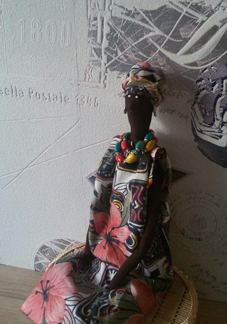 интерьерная подарок кукла тильда африка