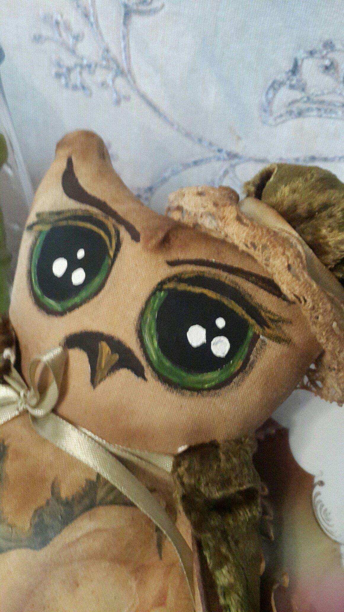 игрушка сова кофе пряник интерьер декупаж чердачная мягкая корица