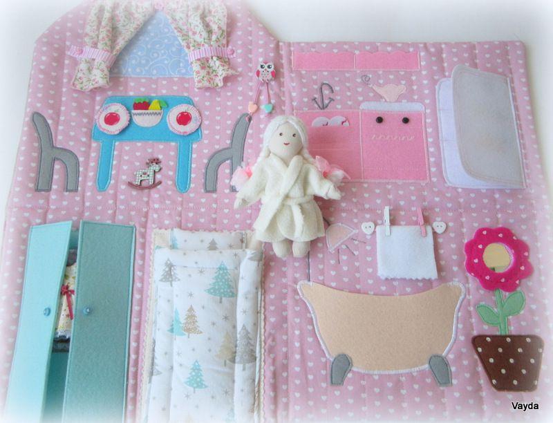 кукольныйдом домиксумочка подарокдевочкеновыйгод рождественскийподарок текстильнаякуколка домикизфетра развивающаяигрушка