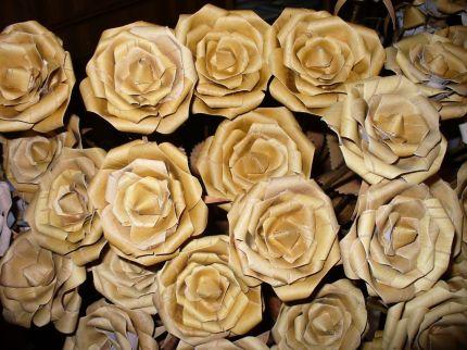 мастеркласс дерево береста роза