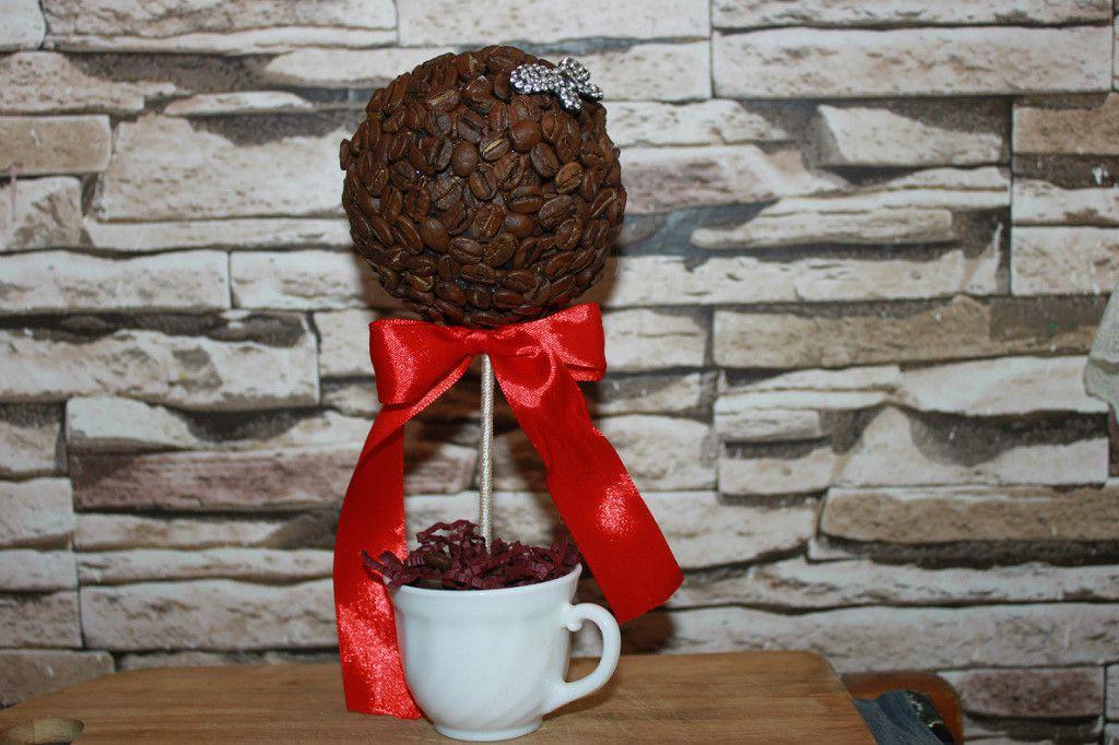 женщине топиарий дерево кофе праздник мужчине ёлка новыйгод подарок