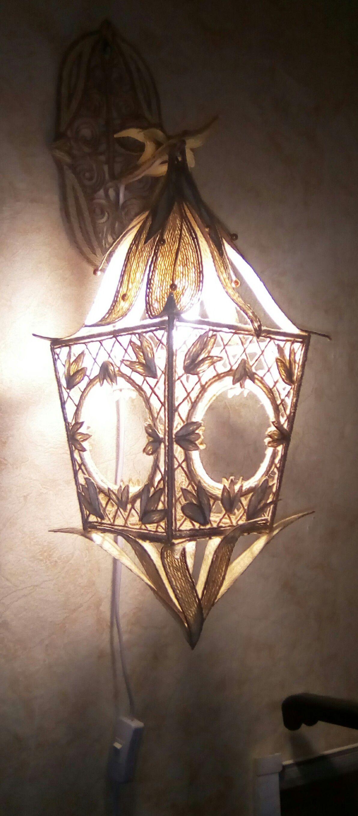 освещение фонарь ночник шпагат ручнаяработа