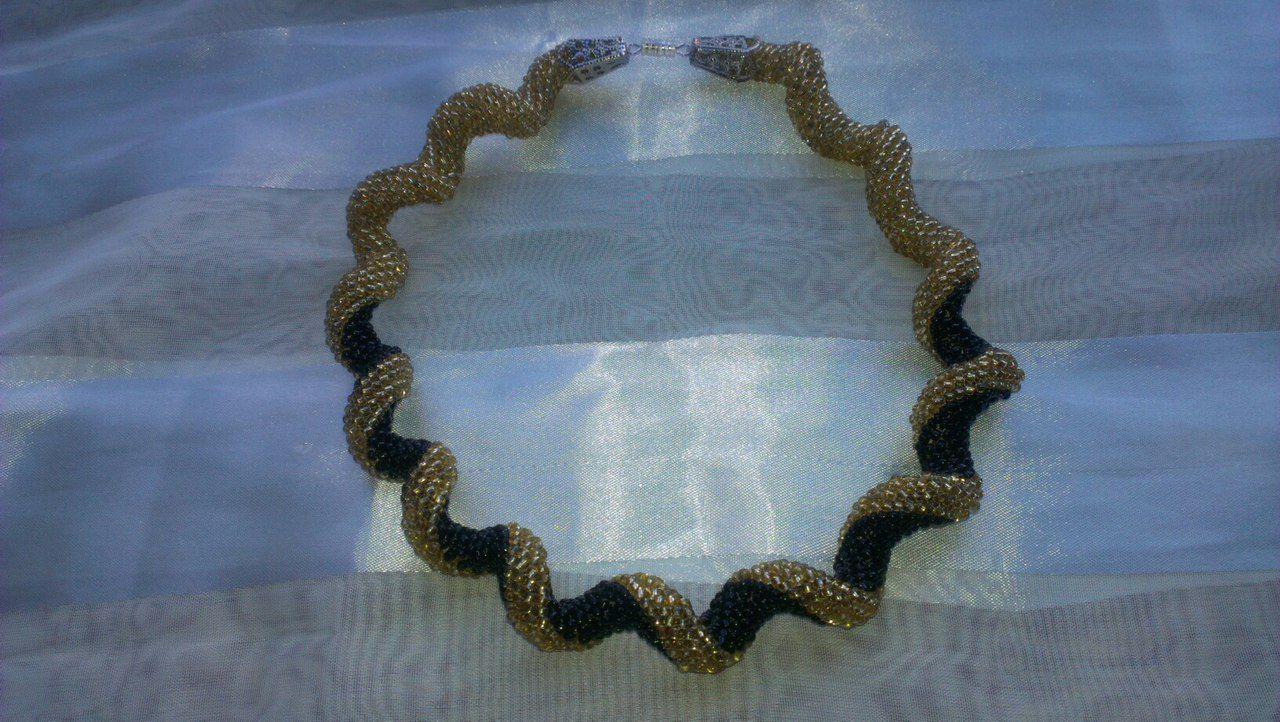 колье золото ожерелье ручная бижутерия шею работа жгут украшение бисер