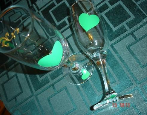 Свадебные бокалы своими руками 2