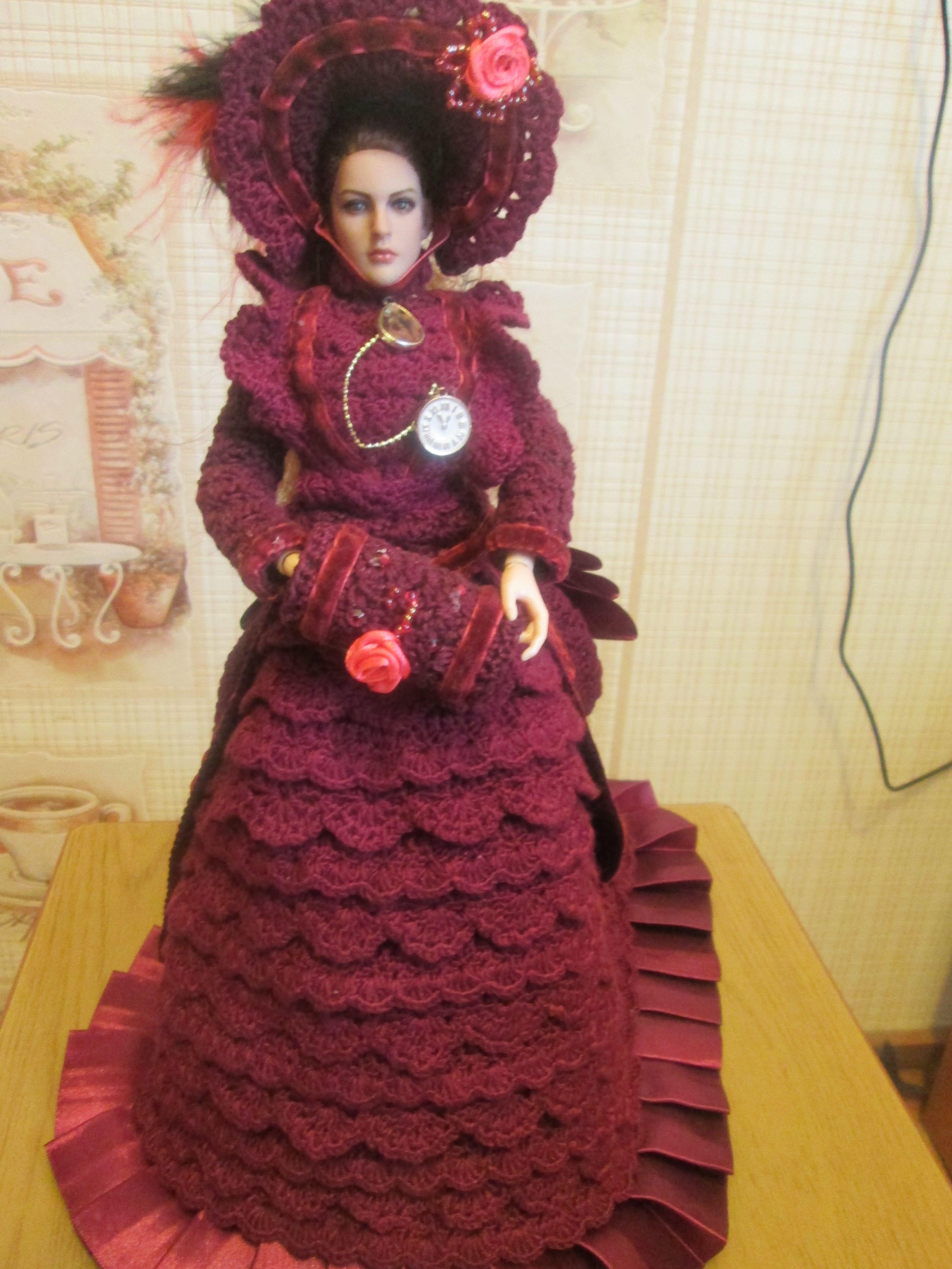 для одежда барби крючком кукол