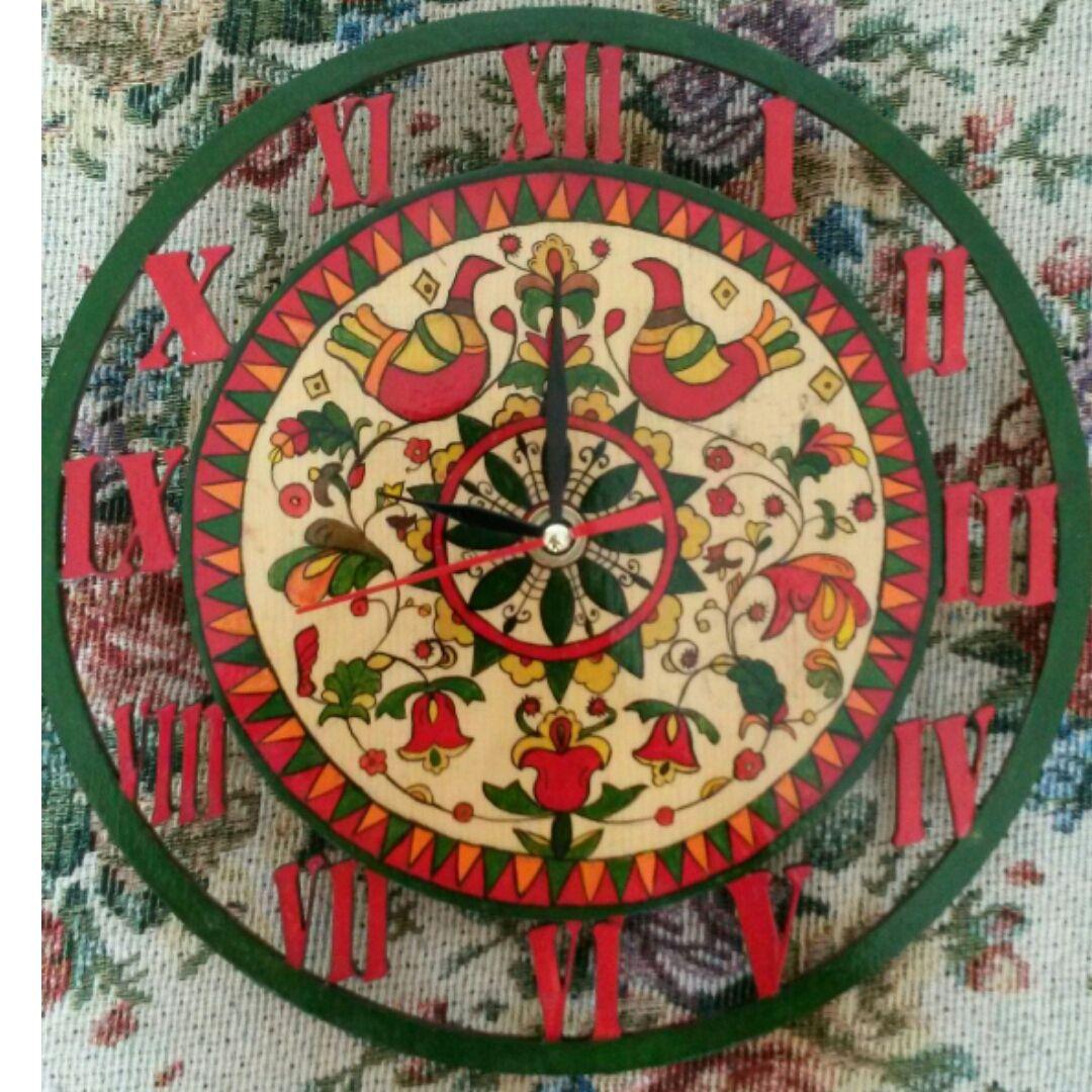 ручнаяработа подарок юбилей роспись часы росписьподереву деньрождения