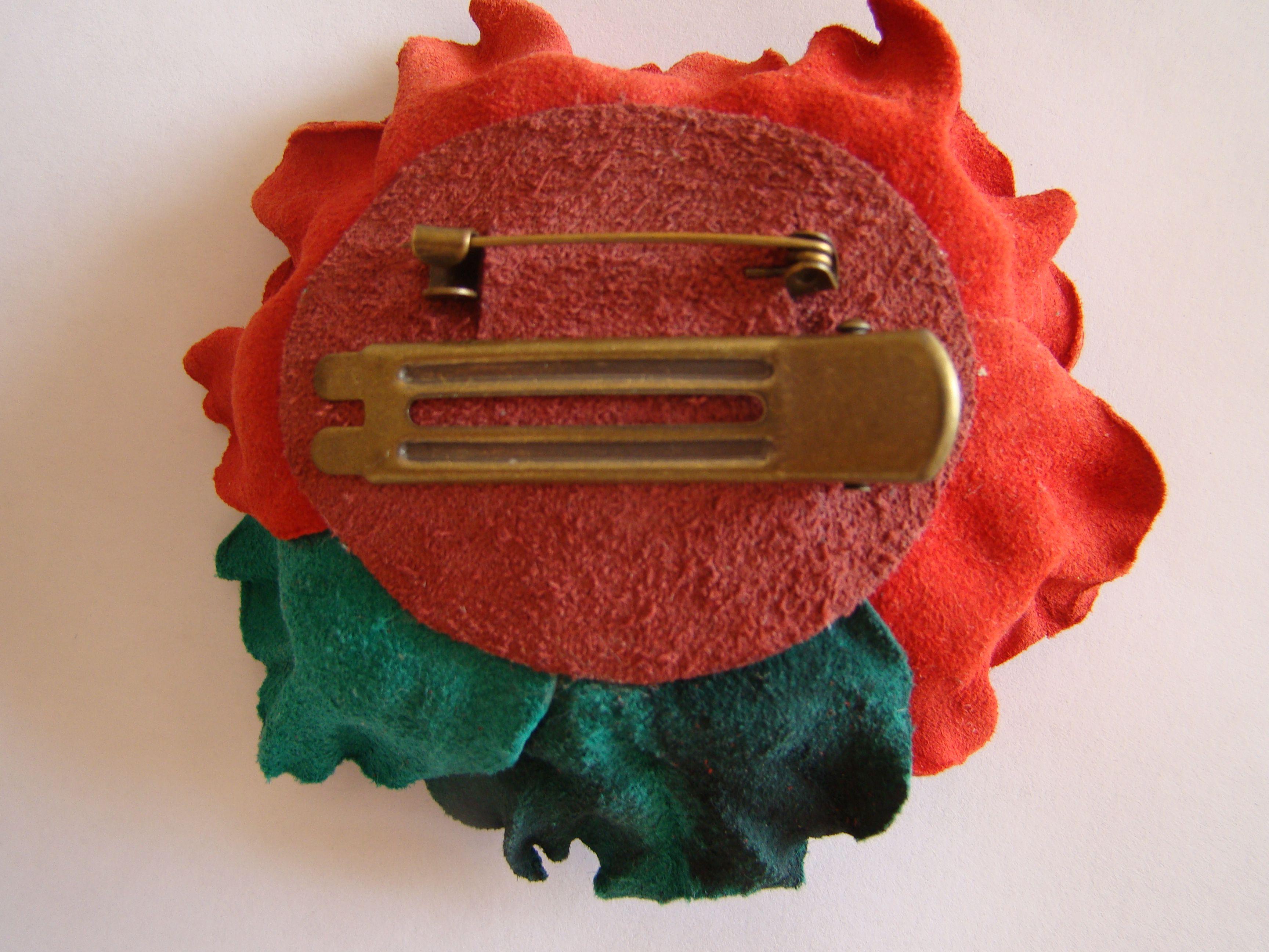 handmade брошь украшение цветокизкожи своимируками творчество хочутакую ручнаяработа акссесуары подарок