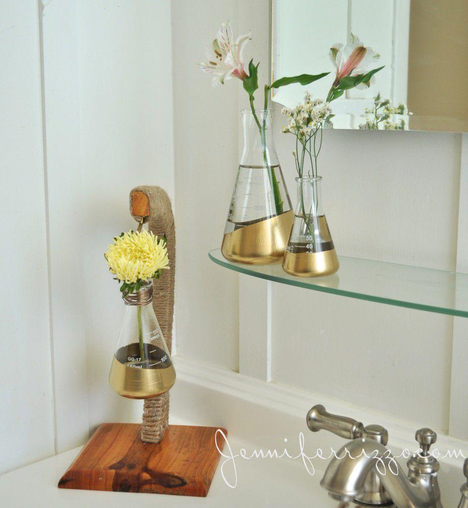 руками колбы подставки стильная ваза своими