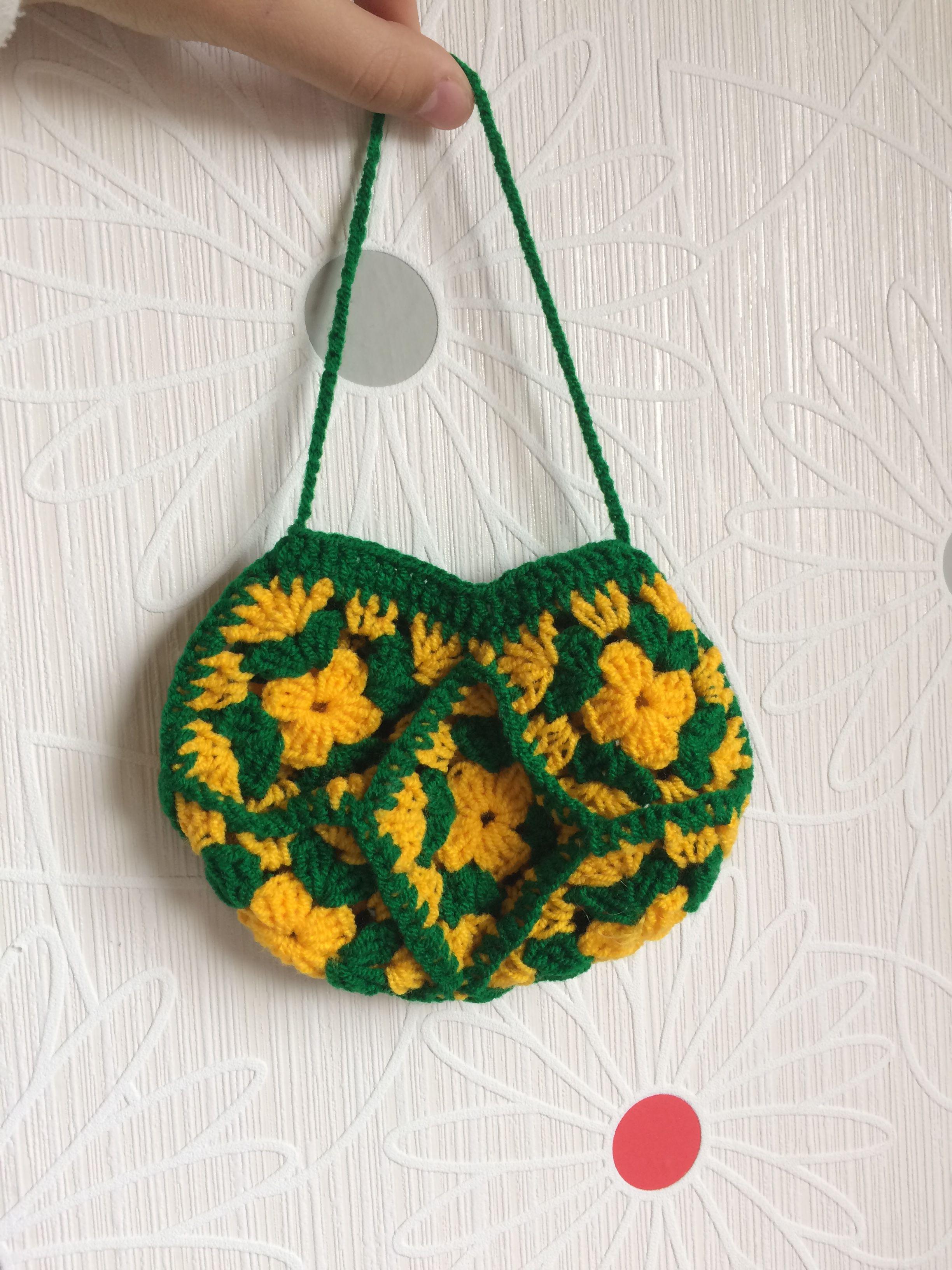 необычное сумочка аксессуар вязанная
