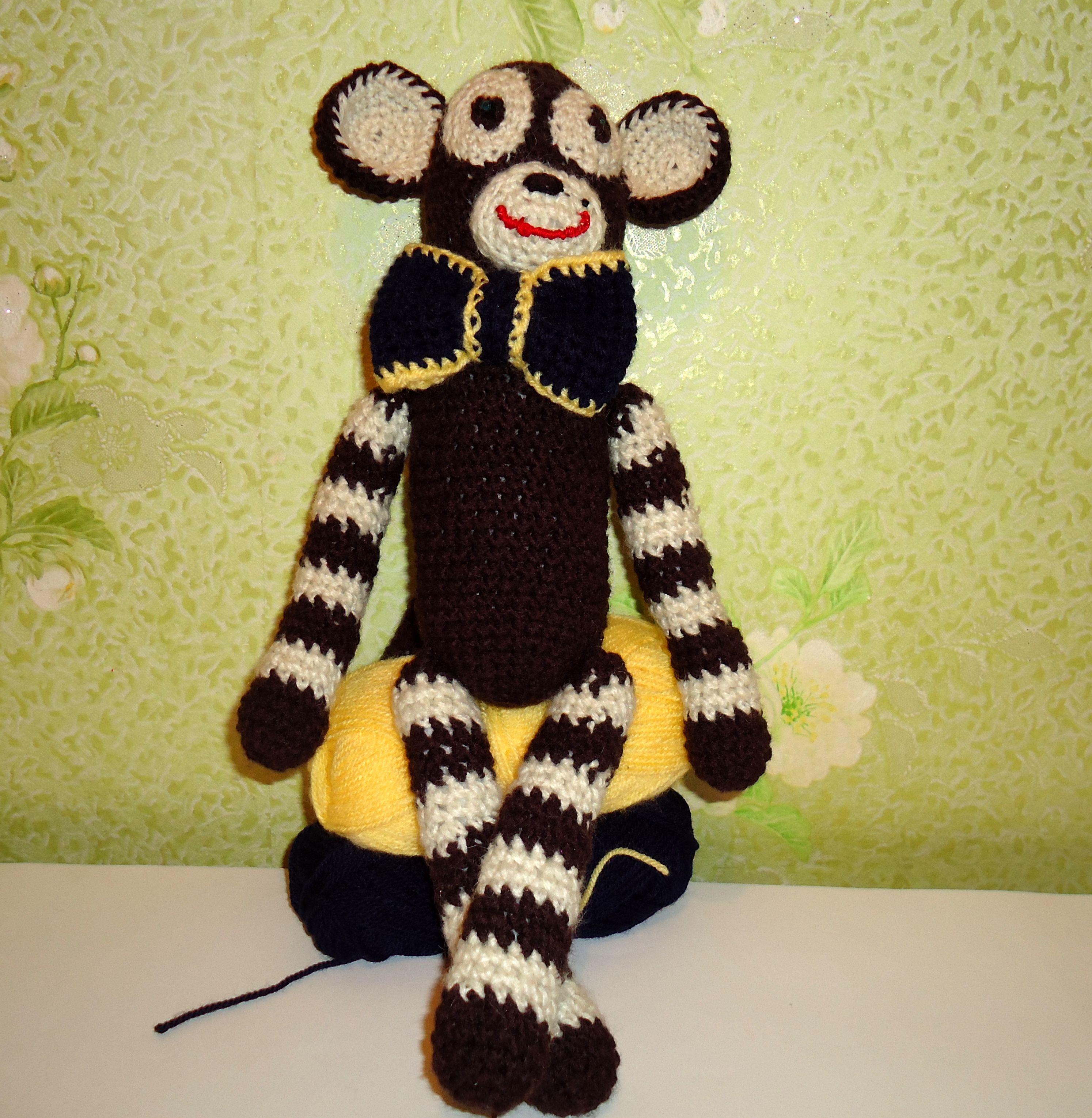 вязаные игрушки дети хендмейд лучшийдруг мавпочка амигруми