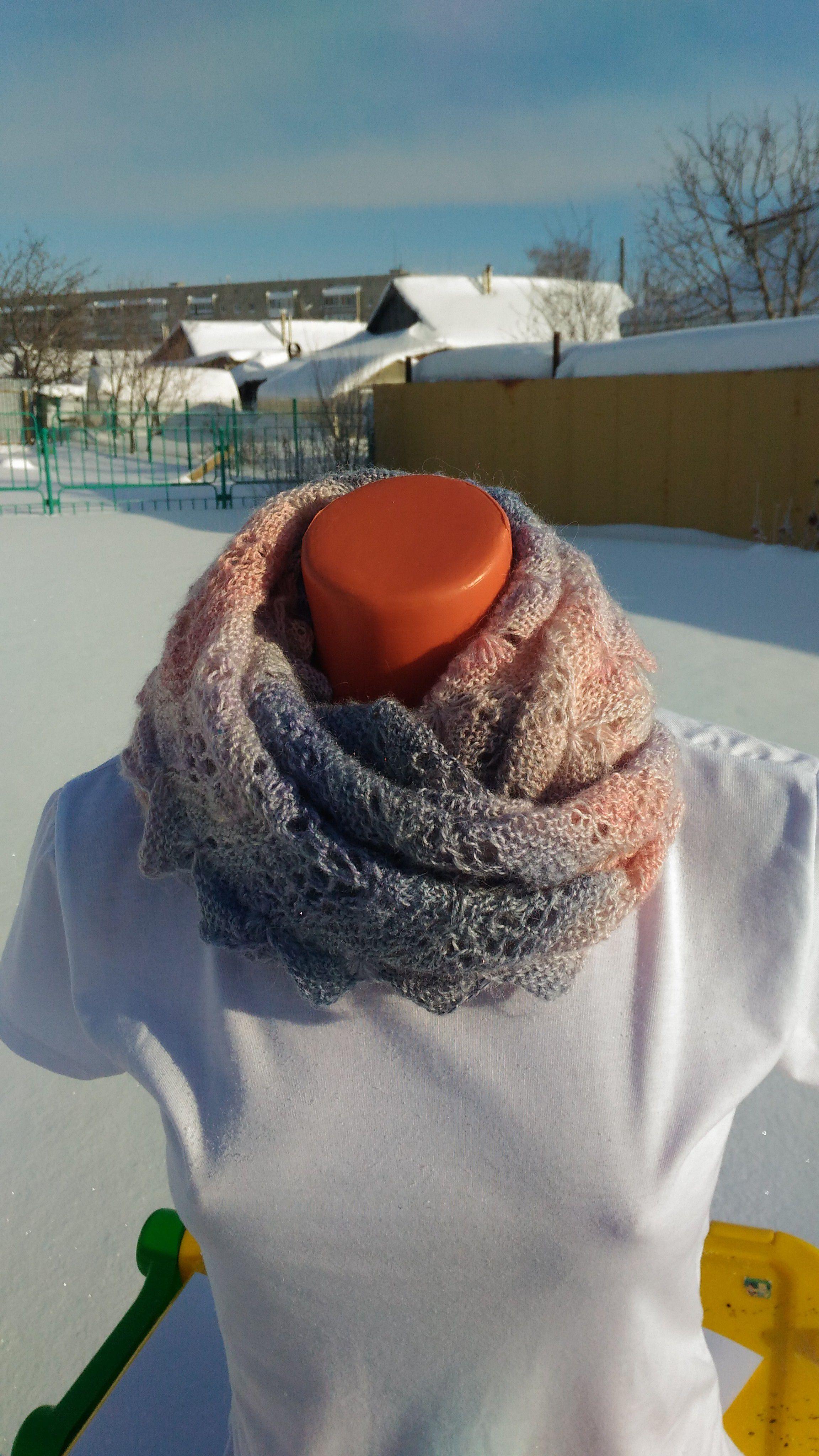 платок палантин снуд шарф шаль бактус