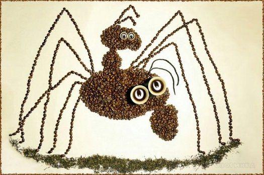 Картины из кофейных зерен 2