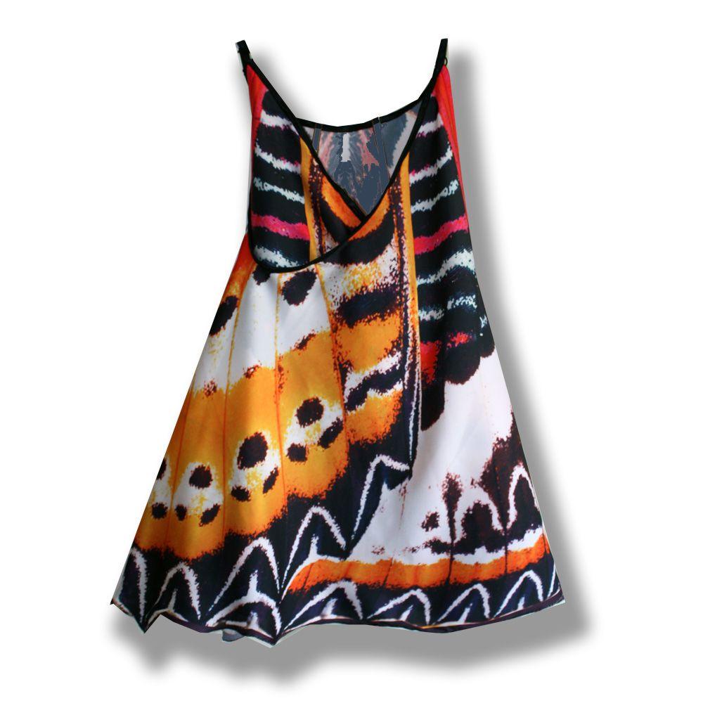 шелк бабочка эксклюзив расцветка комбинированный удобное пестрое звериная платье креатив яркое красивое пляжная легкое крылья сарафан мода девочке