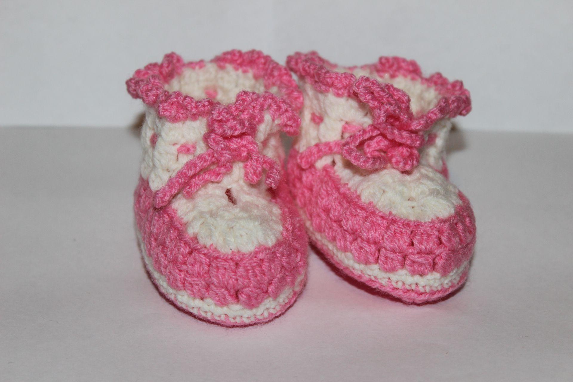 вязание пинетки новорожденые дети