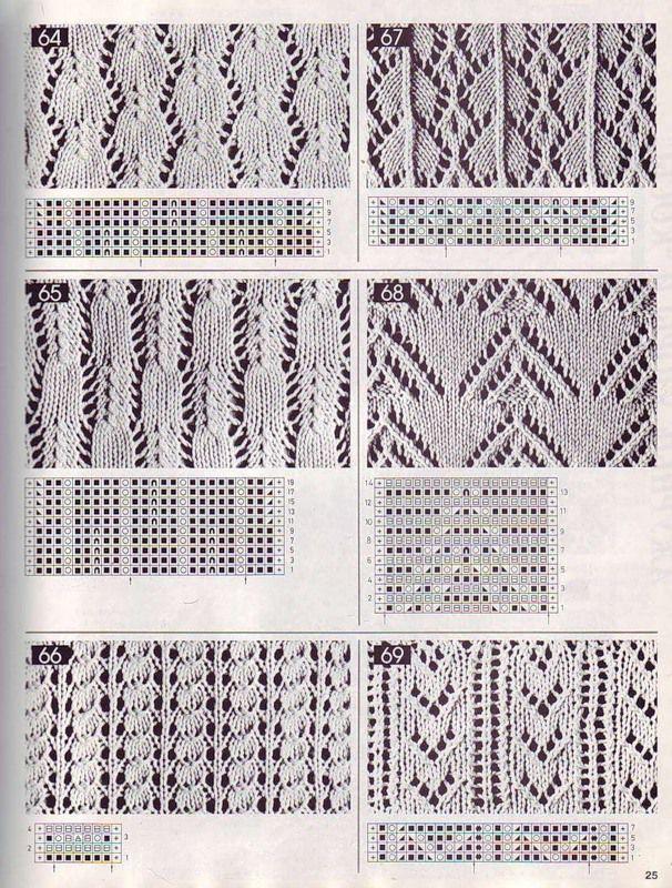 Объемные узоры спицами 10
