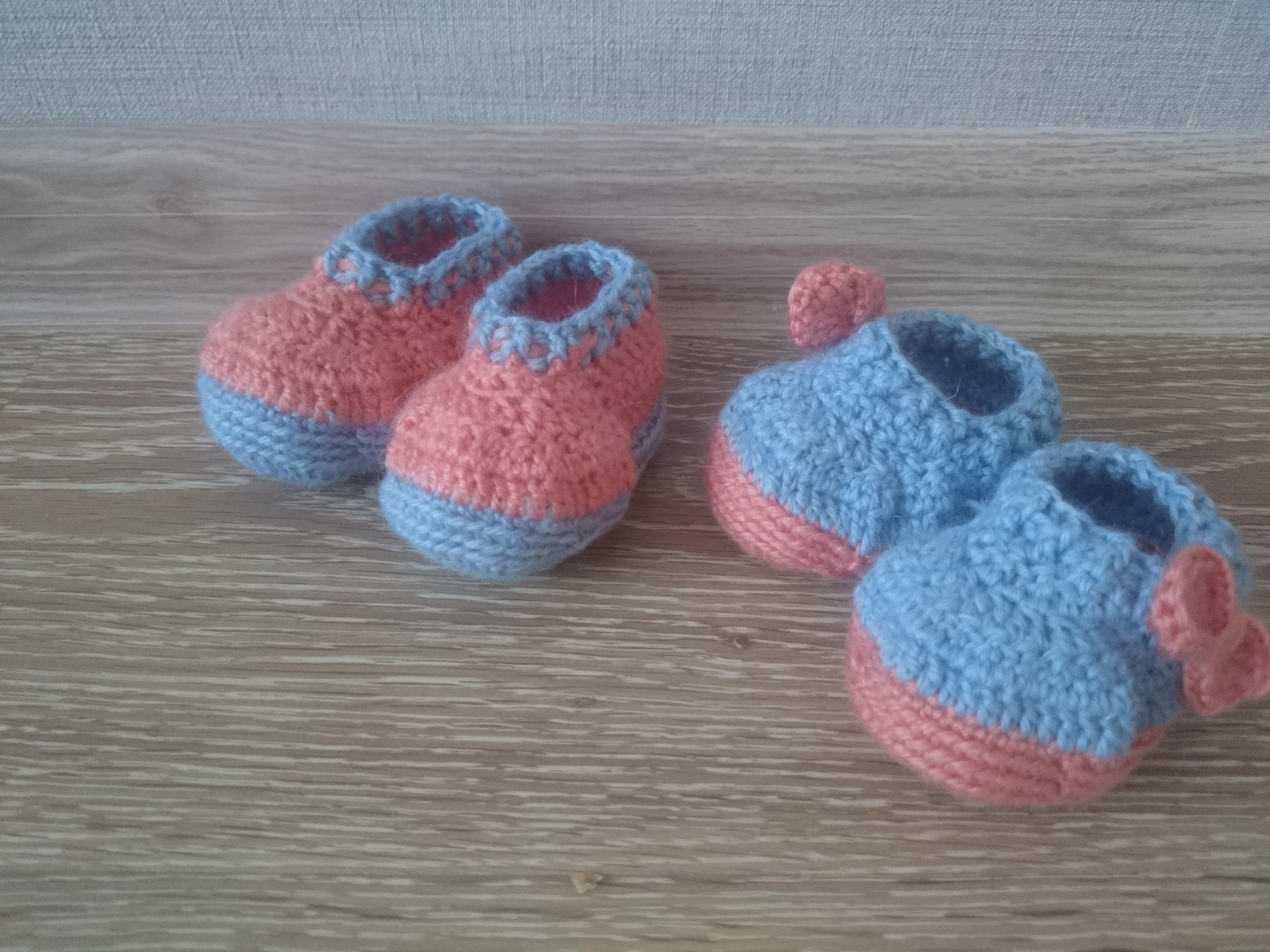 Вязание детям носочки пинетки