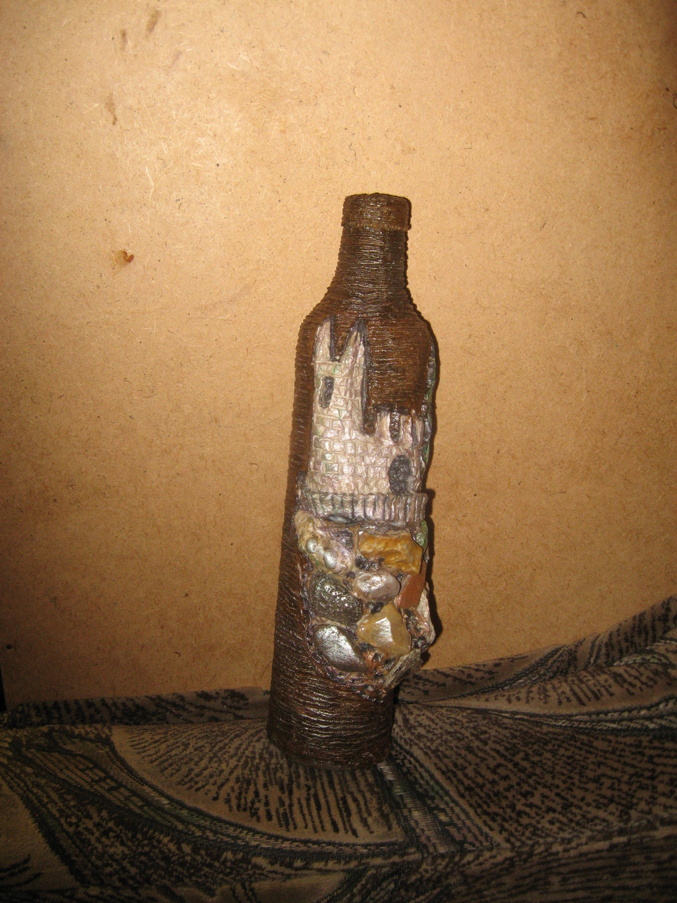 папье маше бутылки