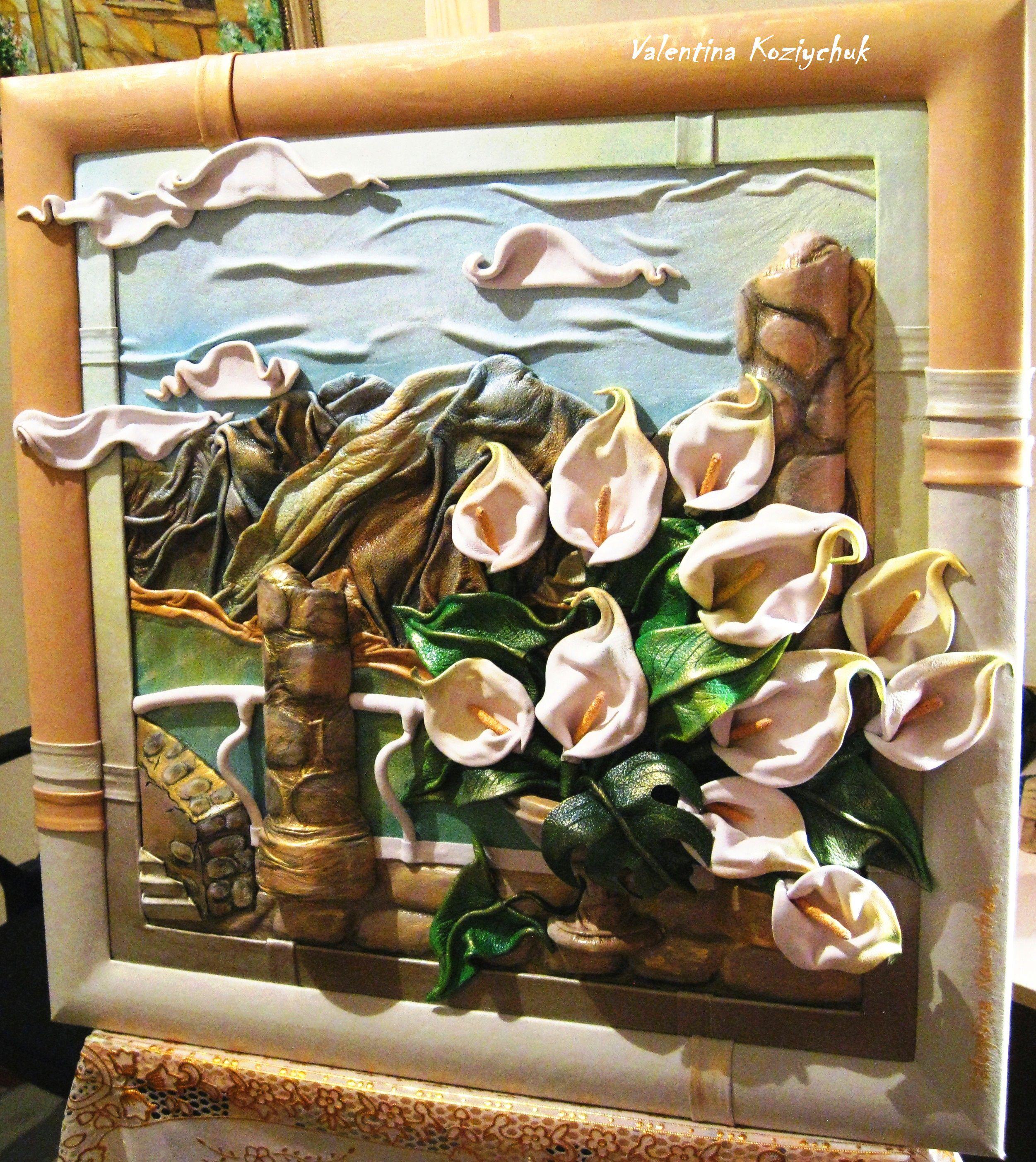 авторская кожа картина сувенир натуральная изделия кожаные презент подарки