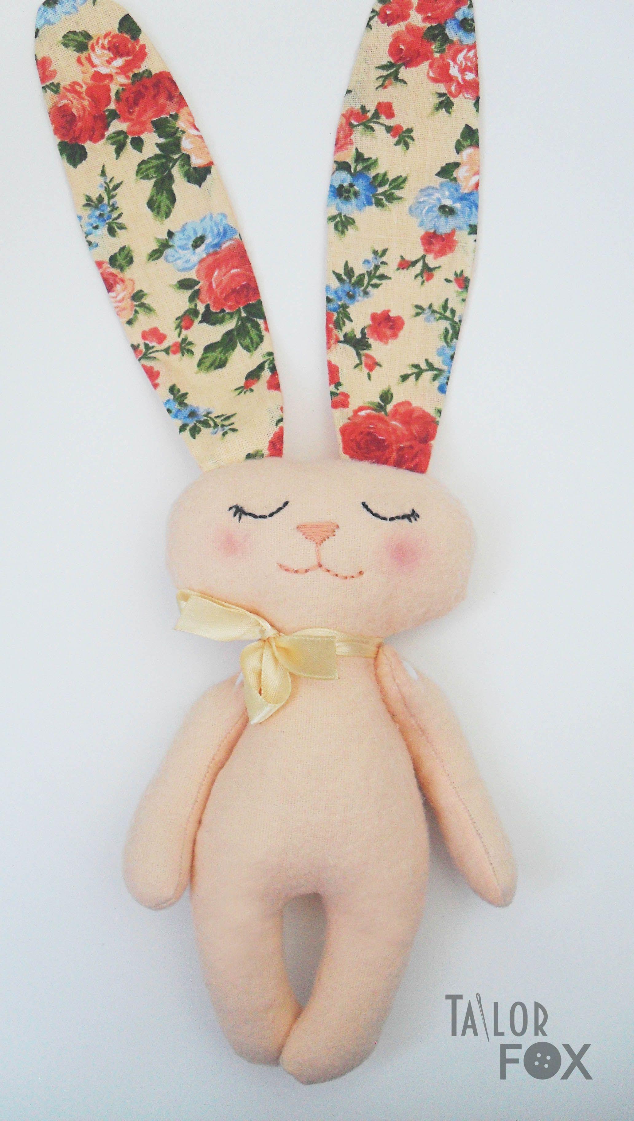 малютка сплюшка ушастик фланель ребенка для бежевый малышей сон заяц ручной работы персиковый игрушка подарок цветы текстильная