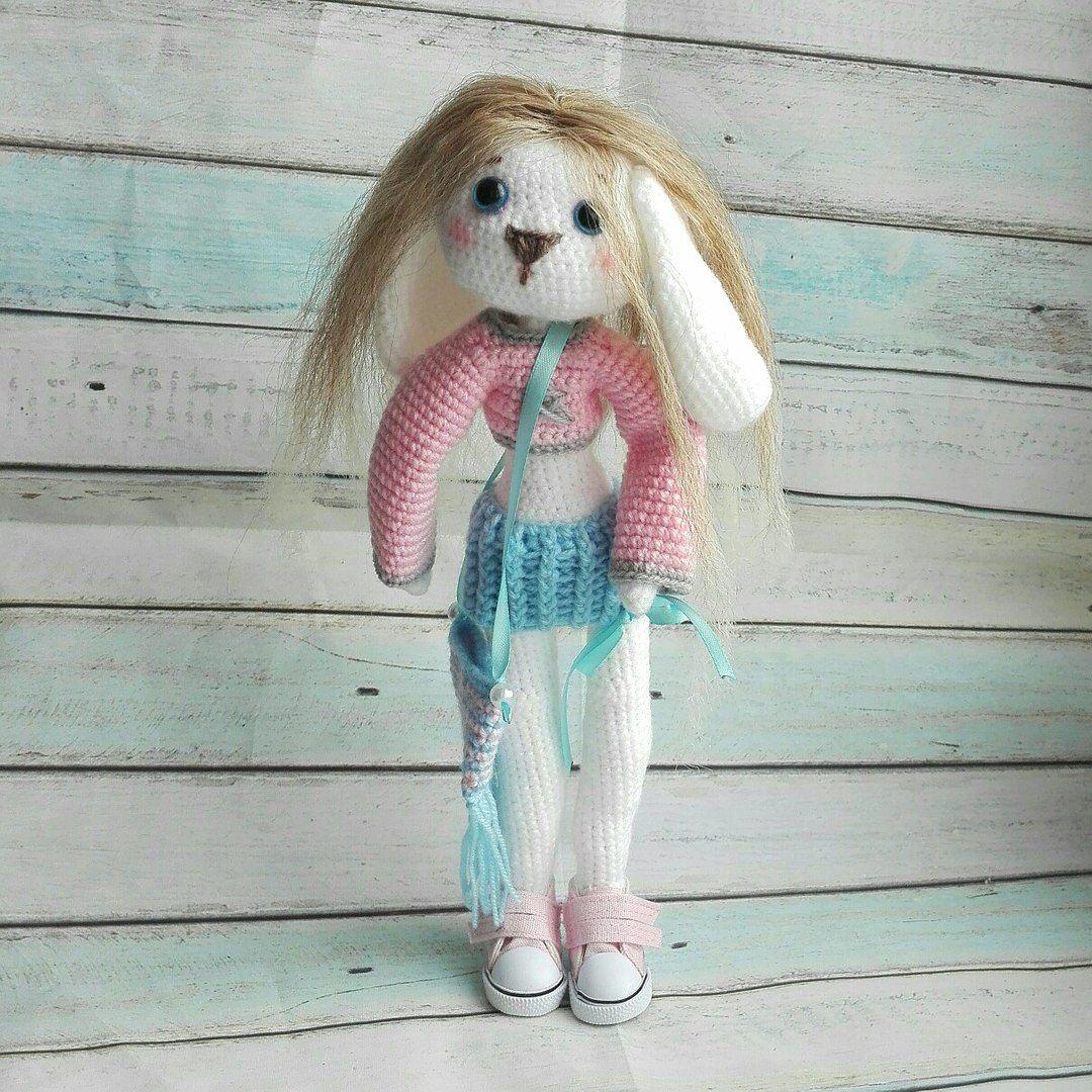 куколка подароклюбимой игрушка купитьигрушку зайка кукла зайкасволосами заяц авторская вязаныйзаяц малышка зайкавплатье зайкабум красотка зайкаводежде игрушкаводежде подарок