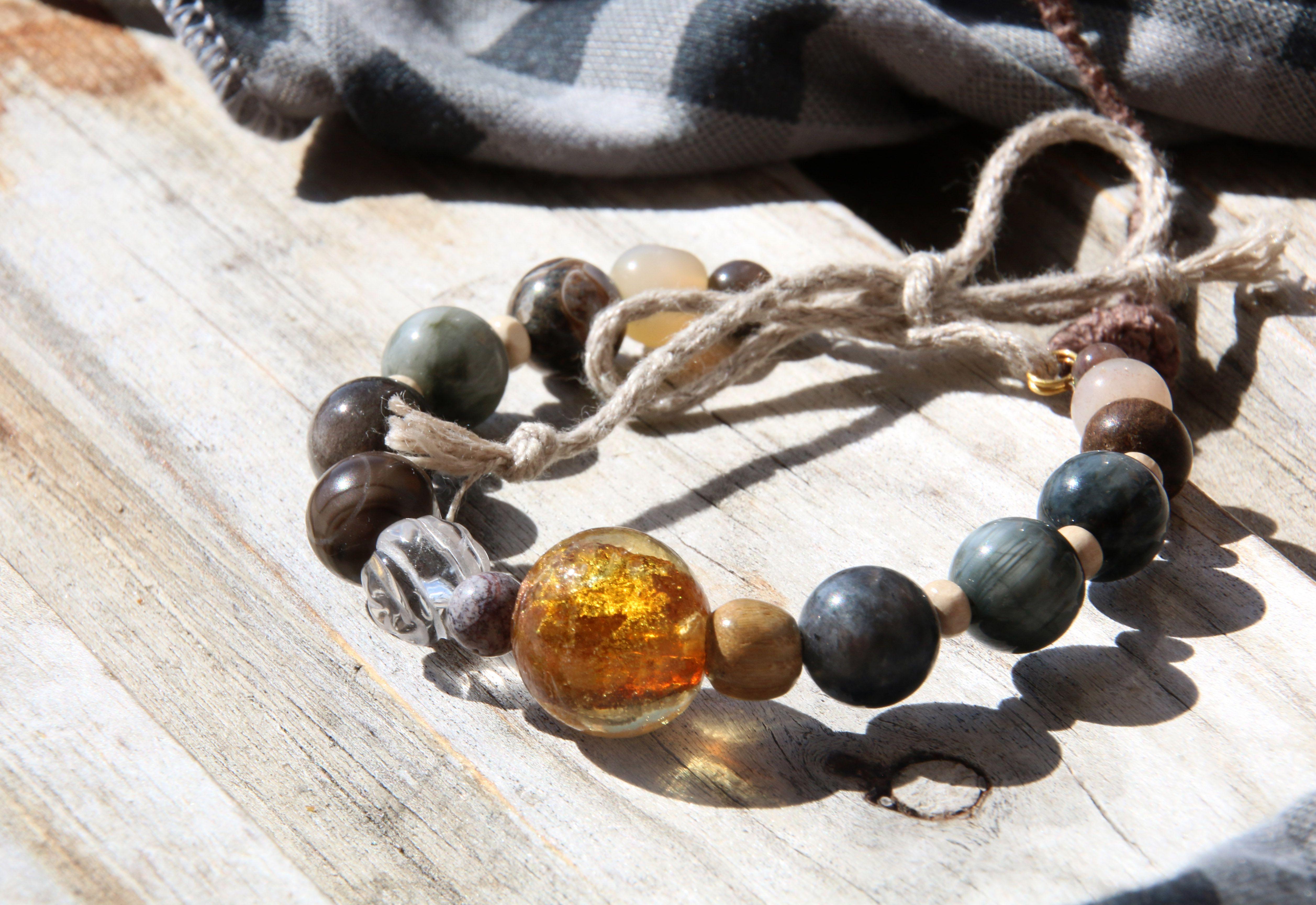 золотистый браслет солнечный серый графитовый туча пасмурный грозовой натуральные
