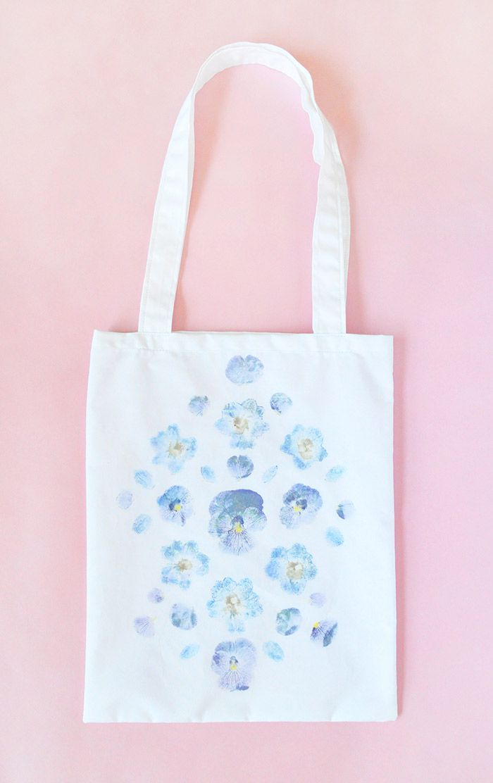 сумка декор цветы лето