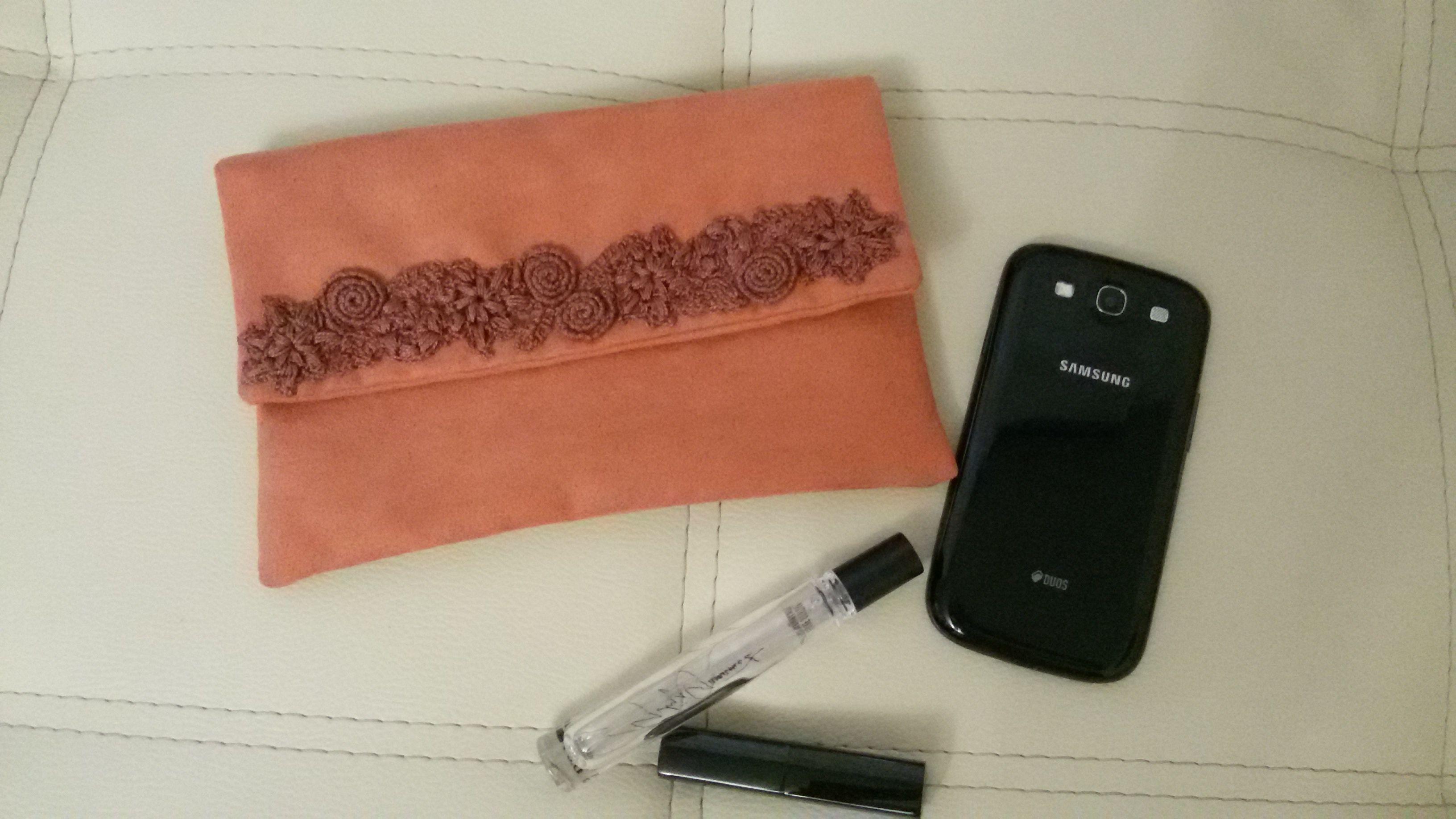 кирпичный орнамент замша вышивка сумка клатч вязание женская