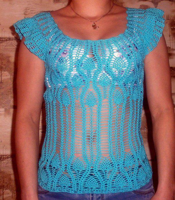 летняя ажур голубая одежда кофта женская