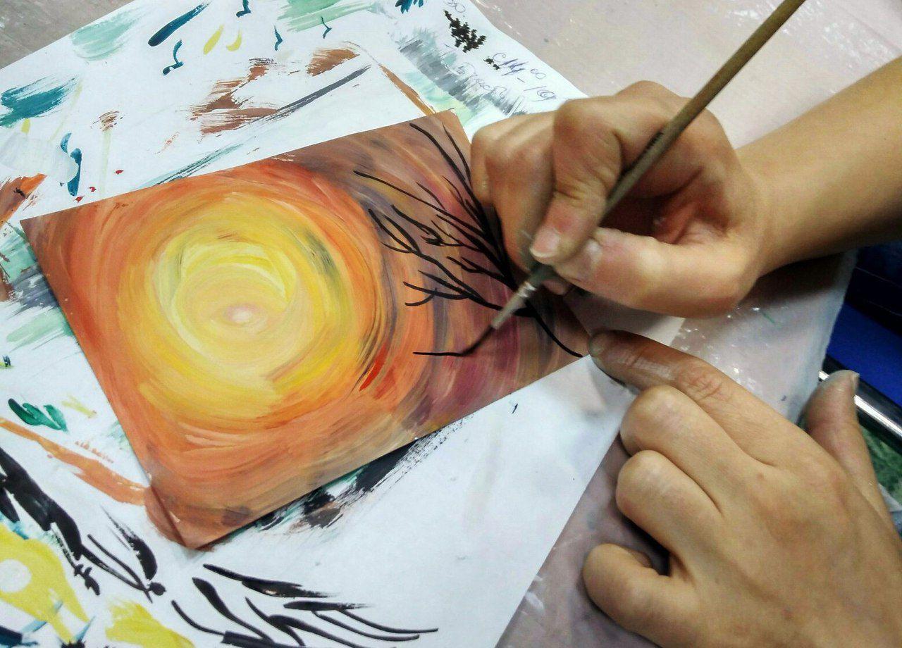интуитивное мастеркласс для живопись детей искусство рисование