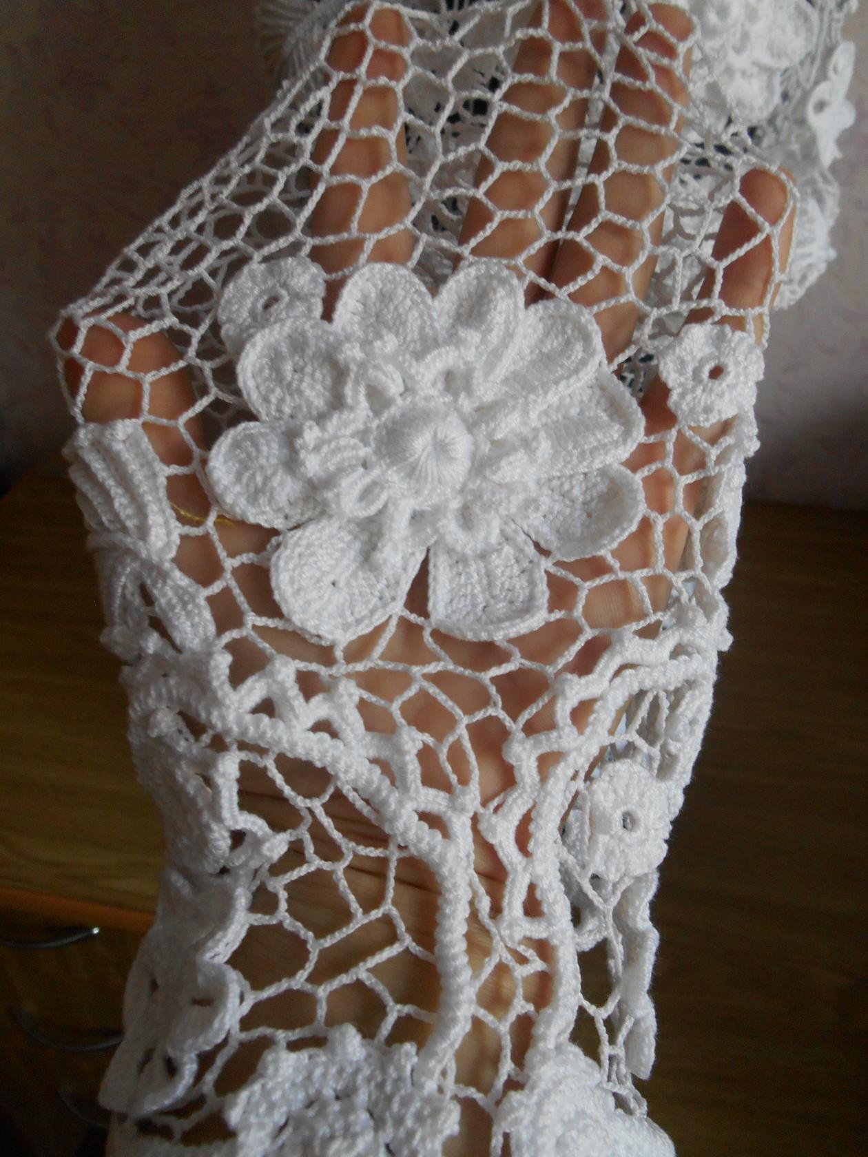 девушек крючком кружевная вязаная для ирландское кофта заказ вязание женщин кружево белая