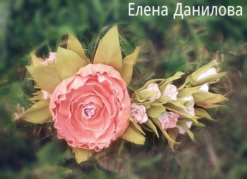 цветочный с украшение для цветами волос аксессуар ручной работы цветы венок