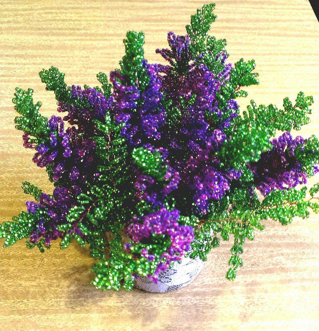 ручная работа цветок бисер подарок
