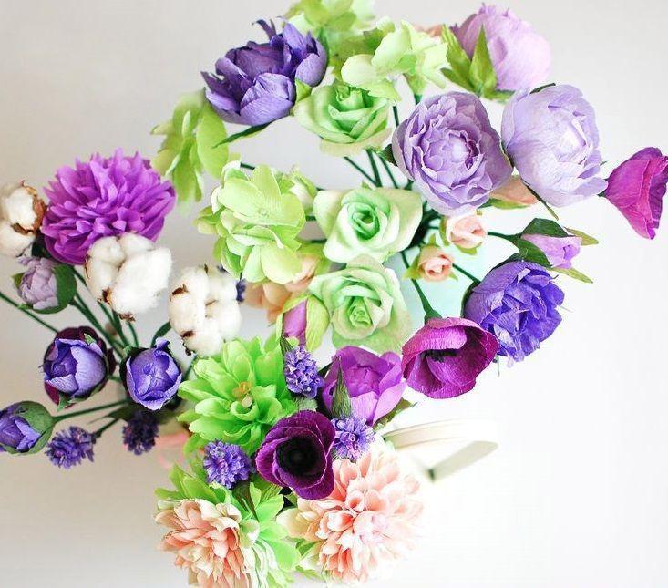из мастеркласс гофрированная бумаги бумага цветы