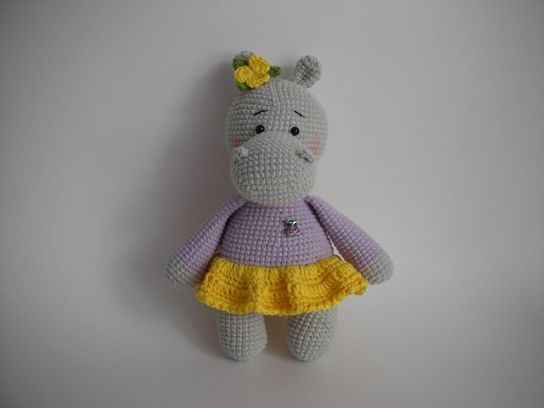 бегемот игрушка handmade ручная_работа подарок