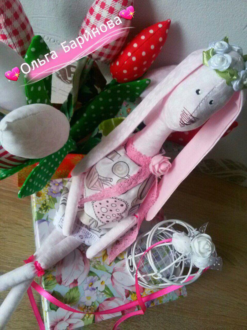 девочке марта подарок зайка тильда праздник розовый кукла игрушка рождение день