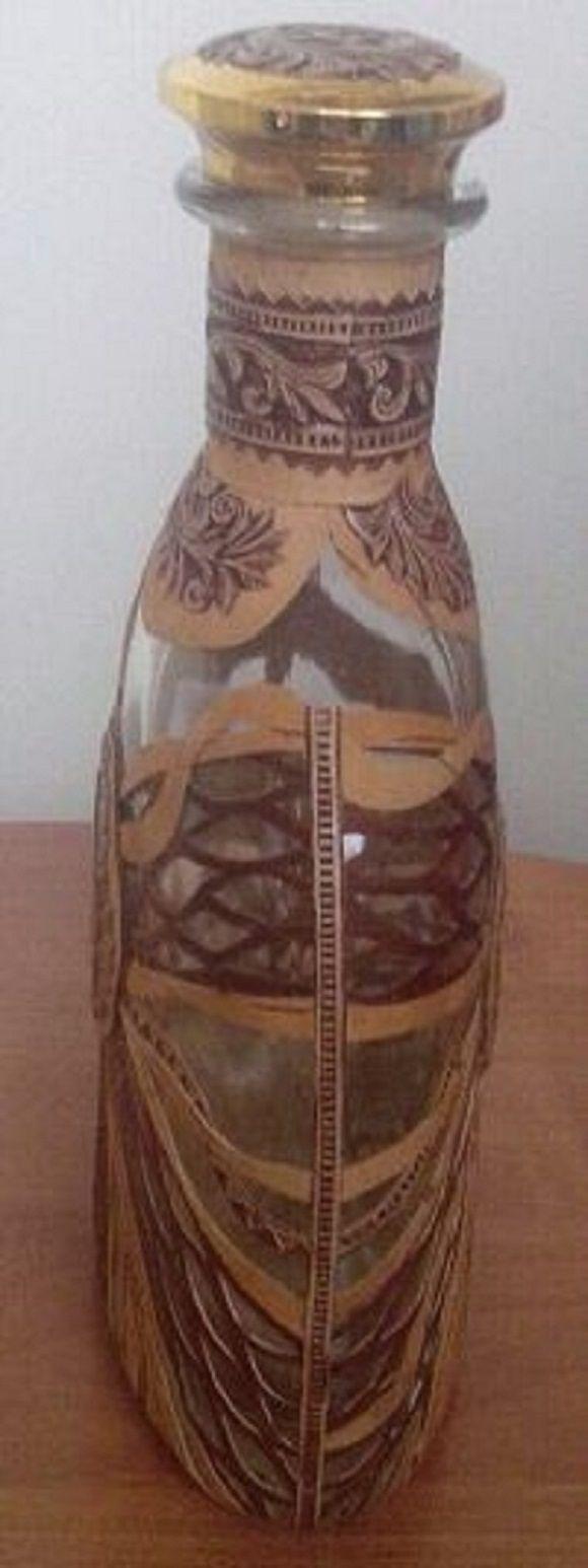 подарок бутылка сувениры береста декоративная берестяные подарки
