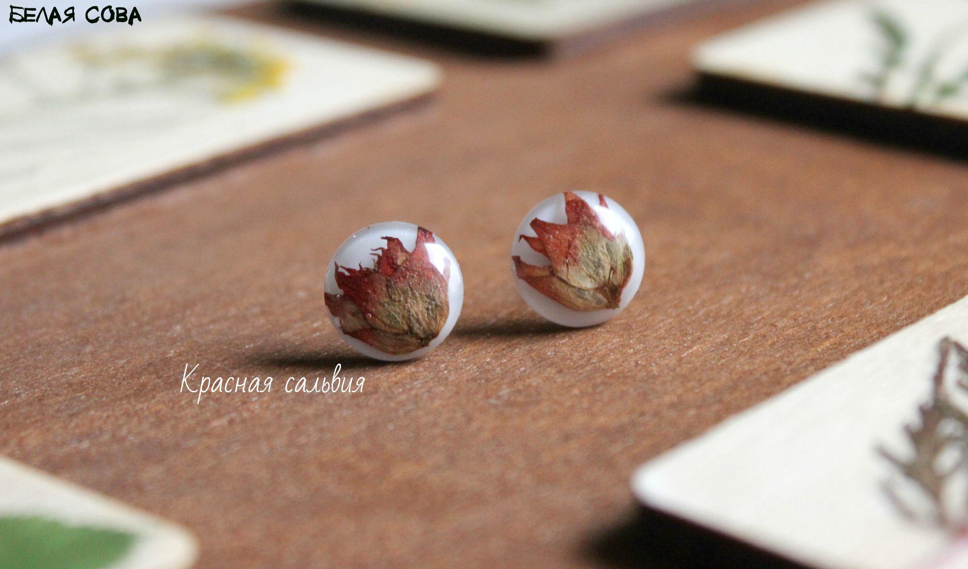 серьги подарок ручнаяработа серьгисцветами